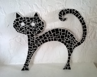 Mosaic, dark mosaic's cat black cat