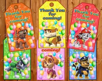 Paw Patrol Thank you cards, Paw Patrol birthday, Instant dowload, Paw Patrol printable, Paw Patrol Party, Decorations, Skye, Rubble, Chase