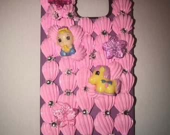 Pink Decoden case for Galaxy s7