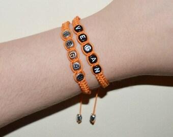 Orange Vegan Bracelet