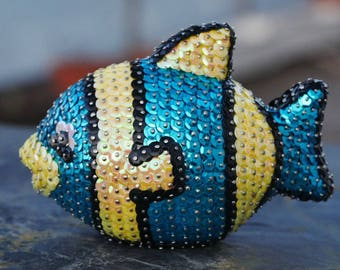 Decoration - Clownfish made from sequins