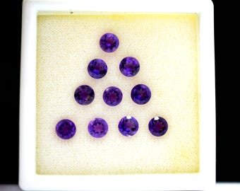 AAA Quality Natural Amethyst Round Faceted 5 mm , Loose Faceted Gemstone Finest Polish And Cut