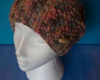 Ladies merino slouchy woollen hat