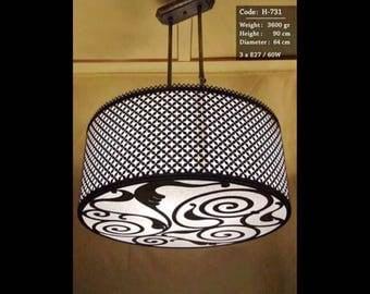 Handmade chandelier lighting.
