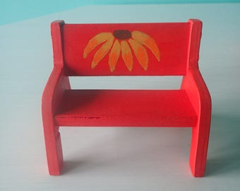 Doll couch, doll living room furniture, dollhouse furniture, wooden doll couch, doll living room couch, painted wooden furniture