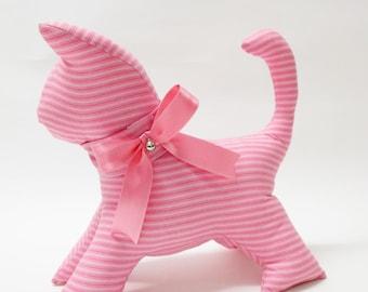 Cat | Pattern& Pink Stripes