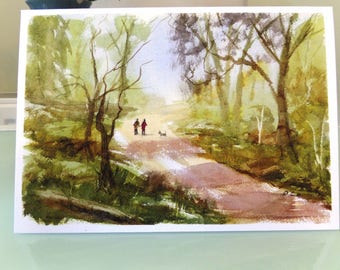 Woodland Walk greeting card for any occasion