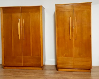 SOLD Mid century retro 1950s hunt wardrobes