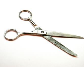 Soviet Vintage Scissors.Metal scissors.Made in USSR.Vintage tool.Housewares. Soviet era. USSR 1970.Soviet Collectibles.Old Russian scissors
