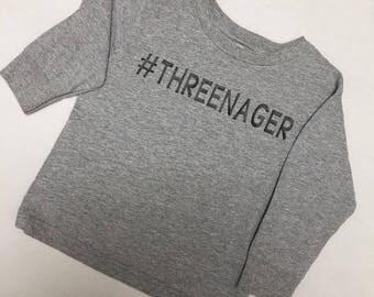 Three - Toddler - Threenager - Kids - Hashtag