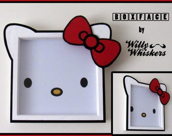 Hello Kitty inspired BOXFACE - Wall Art