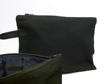 Bag Black canvas with dark blue lining