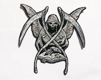 Satan death devil Iron on Patch.