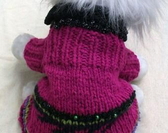 Wool dog jumper/dress