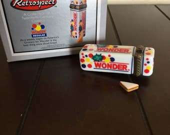 FREE SHIPPING Wonder Bread Porcelain Hinged Box