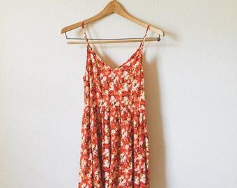 Vintage Floral Dress/ 70s inspired