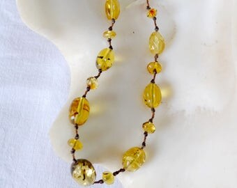Amber necklace from Mexico - Clarito