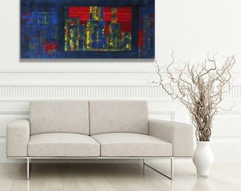 Acrylic on streched canvas, The Ctiy