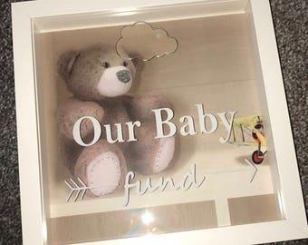 Baby Fund Money Drop Box Frame