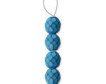 Turquoise Snake Special Finish Fire Polished Bead Mix