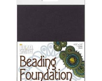4 Pack 4.25 x 5.5 Bead Back Soutache Beading Foundation  Black and  White