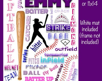 Personalized Softball Collage