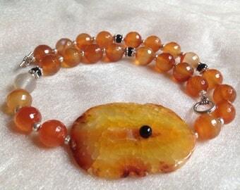 Agate - Carnelian necklaces