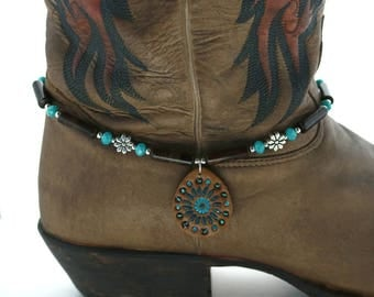 Boho boot bracelet, womans gift