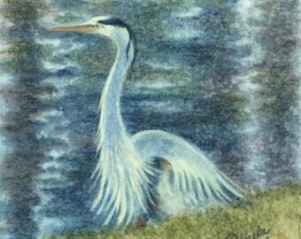 Blue Heron at Christmas