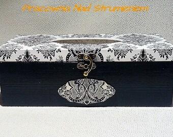 Wooden tissue box cover, Kleenex box holder