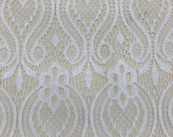 stretch lace - 4 way stretch 100% polyester 60 inches width