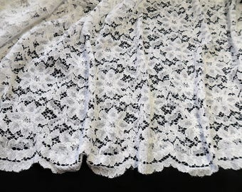 5 1/2 Yards of White Corded lace