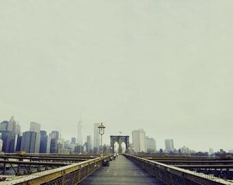 New York Photograph, Brooklyn Bridge, Fine Art Print