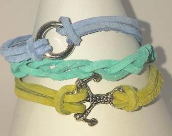 Anchor Suede Bracelet