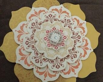 Pretty Card // Blank Card // greeting card // handmade card // homemade card // any occasion card // mandala card // flower card