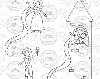 Rapunzel and prince - IsabelCristinaStamps