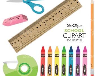 School Clipart Crayon Clip Art Pencil Supplies Craft