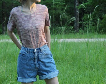 80s 90s Space-Age Top Striped Spring Summer Grunge Hippie Retro Trippy Lounge BABE minimal Loose Hipster Tomboy funky