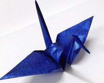 Large Blue Origami Cranes ** 100 pcs
