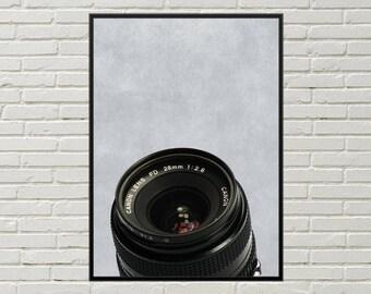 CAMERA art print, photography wall art, camera shutter art, camera poster, photography hobby camera lens picture, lens wall decor home decor