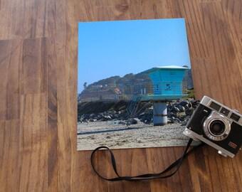 Lifeguard Tower on California Beach Photography Print