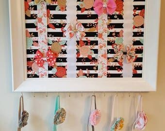 Floral bow holder/ headband holder
