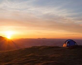 Sunrise camping Print
