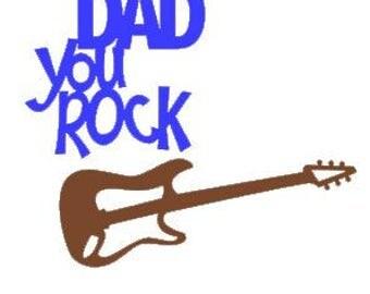 Music decals, drums, guitar, dad