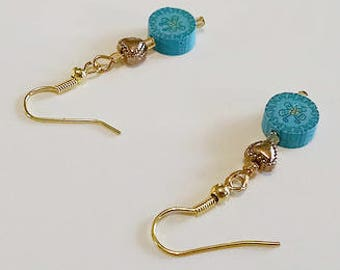 Blue Butterfly Polymer Earrings