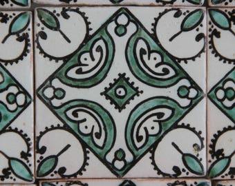 Hand-painted tile Ayla decor tile handmade wall tile Oriental Moroccan tile trivet wall art colorful hand painted