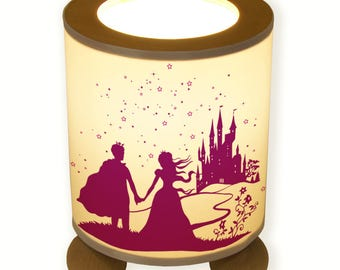Lamp Prince and Princess from fairy tale castle with star TL014