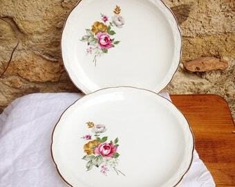 Dessert plates Digoin and Sarreguemines porcelain