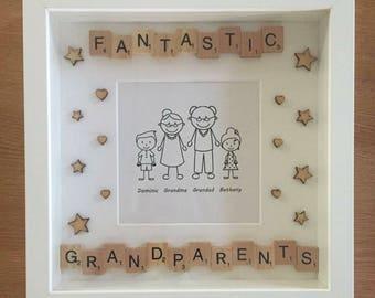 Grandparents Handmade Bespoke Box Frame