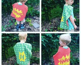 custom made children's superhero cape with name